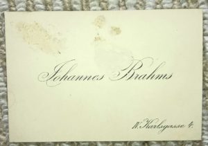 A Letter from Johannes Brahms